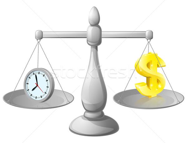 Clock money balance Stock photo © Krisdog