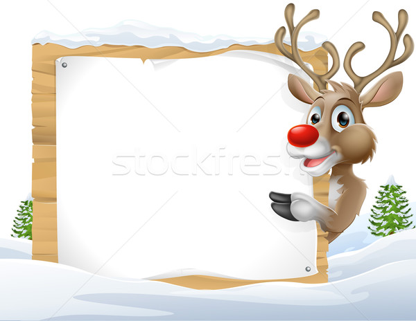 Christmas reindeer Sign Stock photo © Krisdog