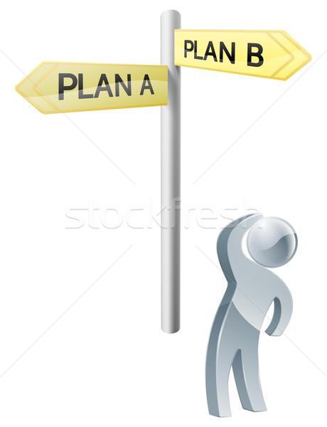Plan plan b seçim örnek adam Stok fotoğraf © Krisdog