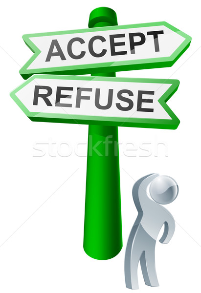 Accept or refuse concept Stock photo © Krisdog