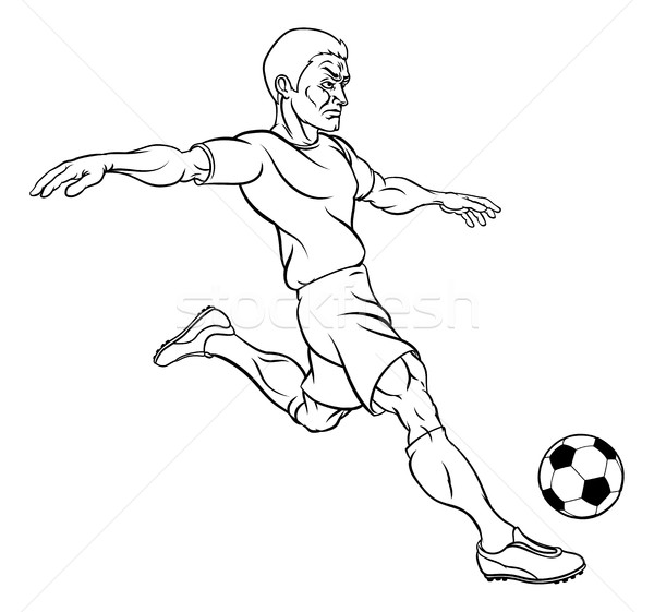 Cartoon Soccer Football Player Stock photo © Krisdog