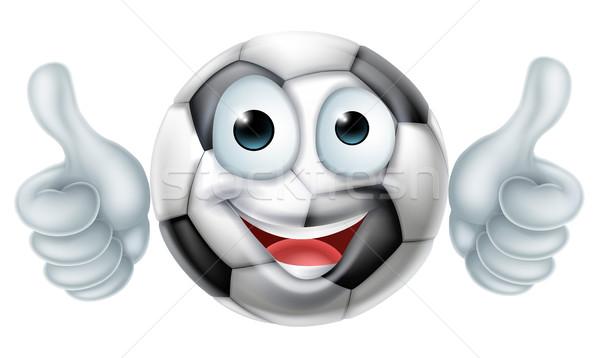 Cartoon Soccer Ball Man Character Stock photo © Krisdog