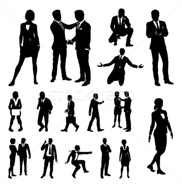 Business People Silhouettes Stock photo © Krisdog
