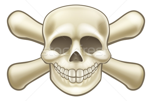 Cartoon Pirate Skull and Crossbones Stock photo © Krisdog