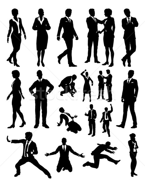 People Business Silhouettes Stock photo © Krisdog