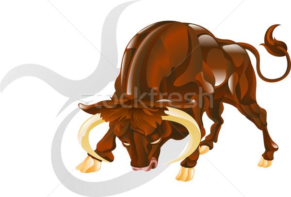 Stock photo: Taurus the bull star sign