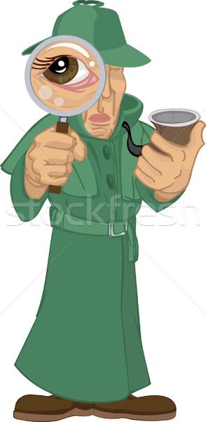 detective illustration Stock photo © Krisdog