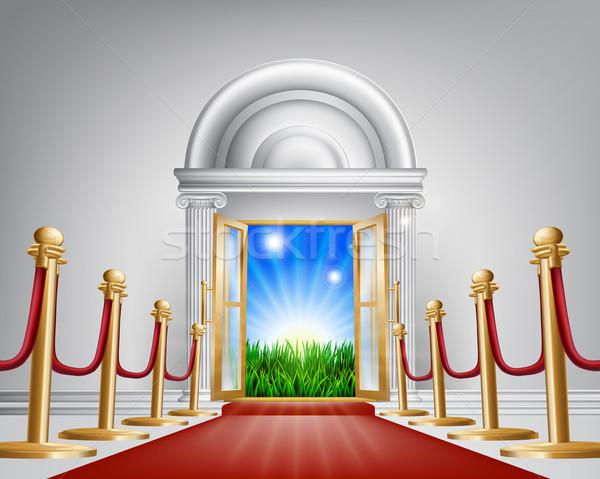 Red carpet door to your future Stock photo © Krisdog