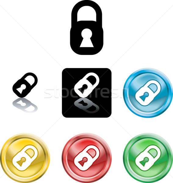 Padlock icon symbol Stock photo © Krisdog