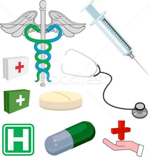 Medical objects or icons Stock photo © Krisdog