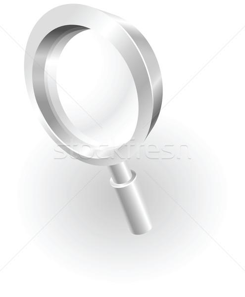 ストックフォト: 銀 · メタリック · 虫眼鏡 · 実例 · ガラス · オブジェクト