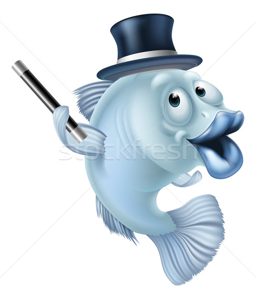 Magic fish cartoon Stock photo © Krisdog