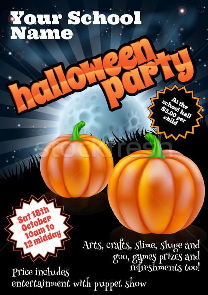 Halloween Party Poster Stock photo © Krisdog