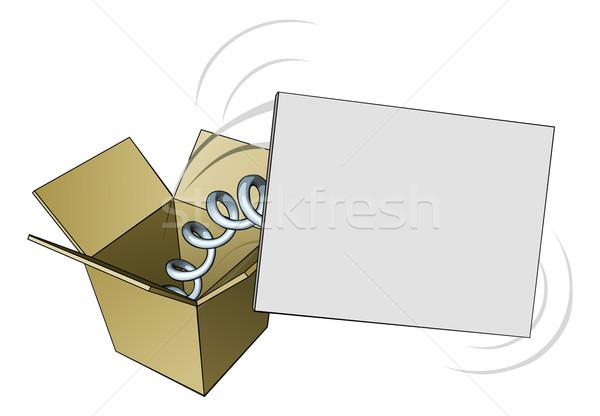 Jack in the box sign Stock photo © Krisdog