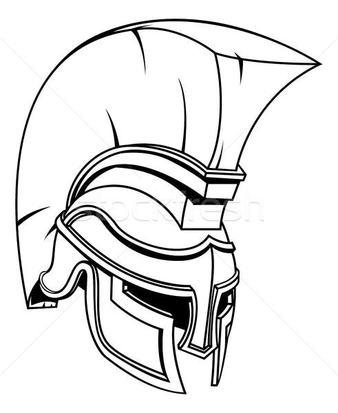 Truva spartalı gladyatör savaşçı kask Roma Stok fotoğraf © Krisdog