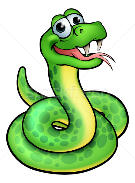 Cartoon serpent personnage illustration cute design Photo stock © Krisdog