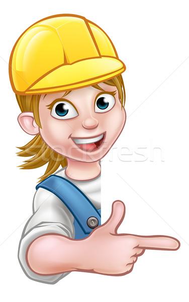 Woman Handyman Carpenter Mechanic or Plumber Stock photo © Krisdog