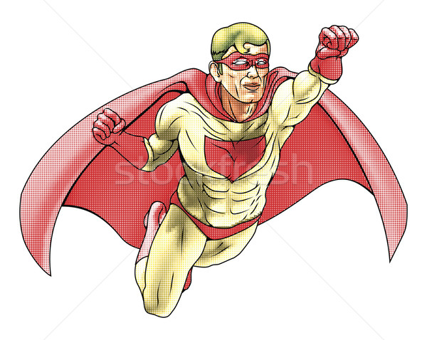 Superhero Comicbook Style Illustration Stock photo © Krisdog