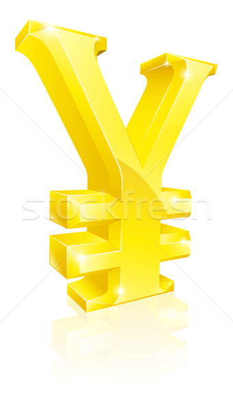 Yen currency sign Stock photo © Krisdog