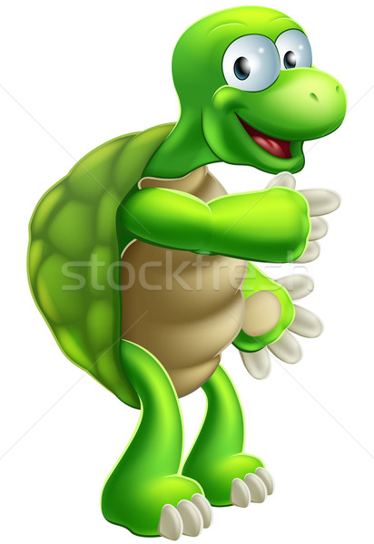 Cartoon Tortoise or Turtle pointing Stock photo © Krisdog