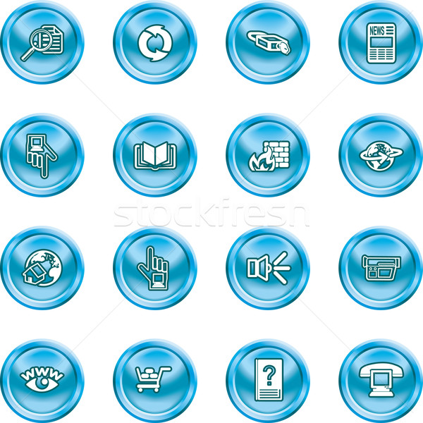 Computing Icon Set Stock photo © Krisdog