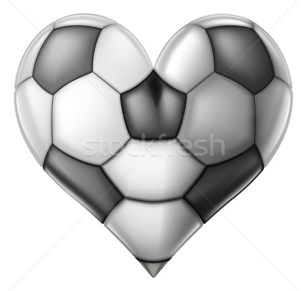 Szeretet futball szív futball labda illusztráció Stock fotó © Krisdog