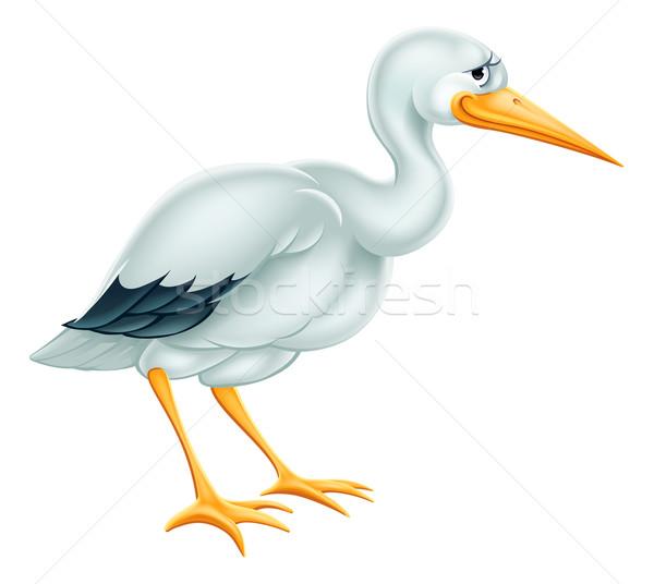 Stork Cartoon Stock photo © Krisdog