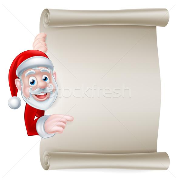Santa Scroll Banner  Stock photo © Krisdog