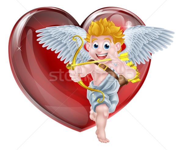 Cartoon Valentines Day Cupid Stock photo © Krisdog