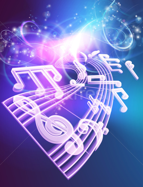 Music Notes Musical Background Stock photo © Krisdog
