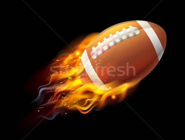 American Football Ball on Fire Stock photo © Krisdog