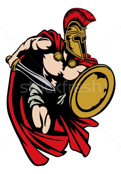 Spartan romana trojan gladiatore antica greco Foto d'archivio © Krisdog