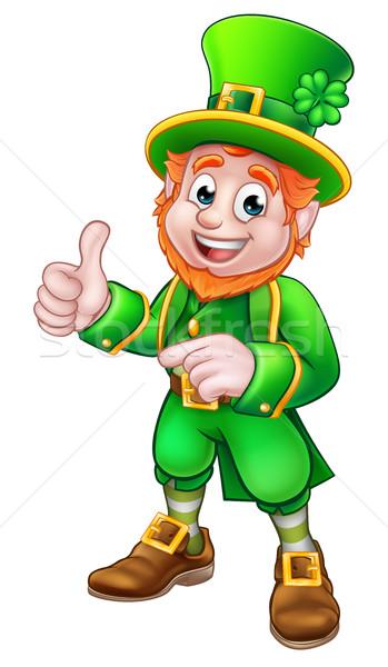Cartoon Leprechaun St Patricks Day Character Stock photo © Krisdog