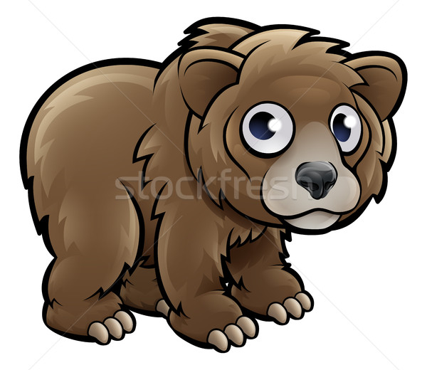 Bear Grizzly Animals Cartoon Character Stock photo © Krisdog