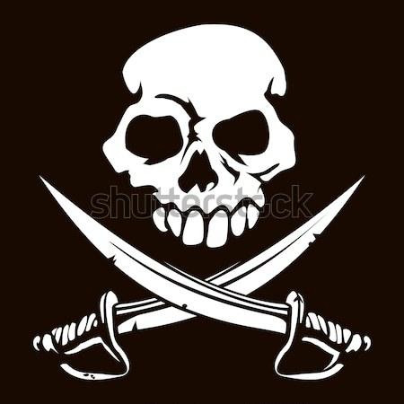 Pirate skull and crossed swords symbol Stock photo © Krisdog