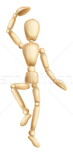 человека танцы иллюстрация Рисунок марионеточного Сток-фото © Krisdog