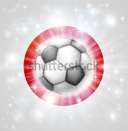 Turkey soccer heart flag Stock photo © Krisdog
