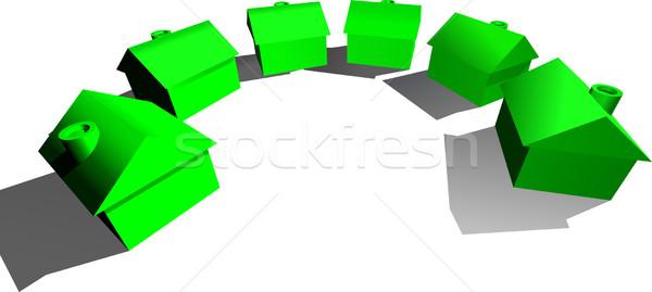 Real Estate Houses Concept Stock photo © Krisdog