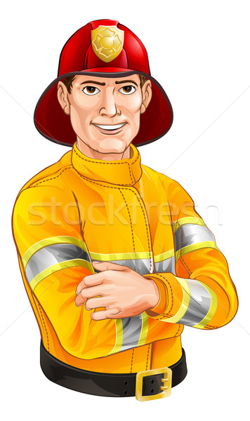 Fireman cartoon Stock photo © Krisdog