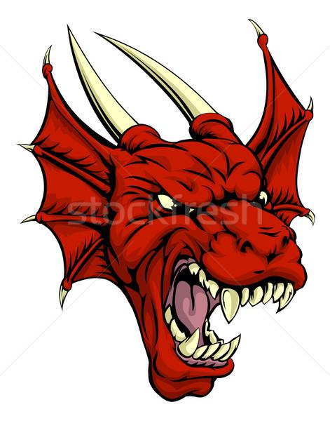 Red dragon character Stock photo © Krisdog