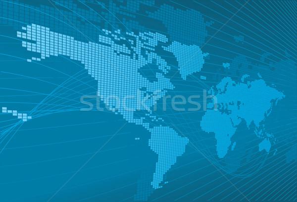 Dynamisch 3D wereldkaart wereldbol kaart abstract Stockfoto © Krisdog