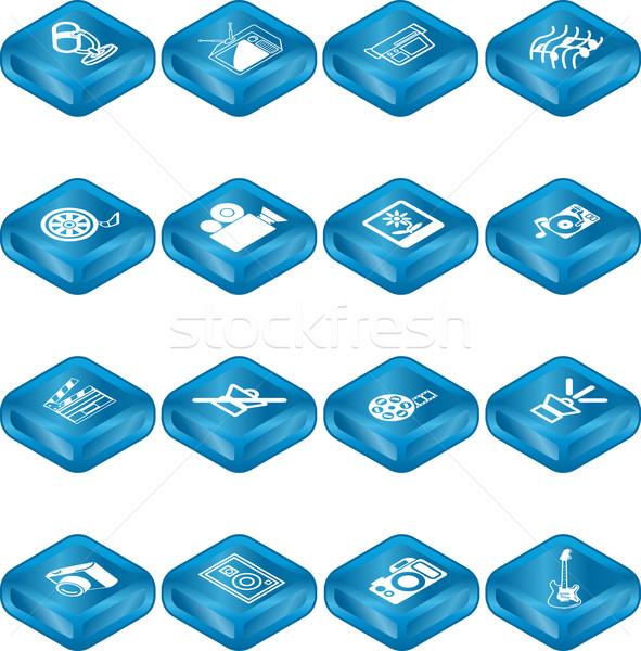 Stock fotó: Média · ikon · gyűjtemény · szett · ikonok · különböző · internet