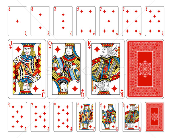 Bridge size Diamond playing cards plus reverse Stock photo © Krisdog