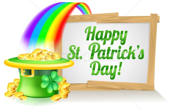 Happy St Patricks Day Sign Stock photo © Krisdog