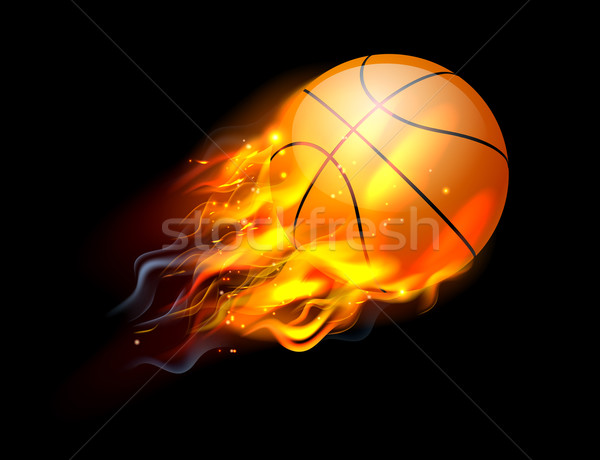 Basketball Ball on Fire Stock photo © Krisdog