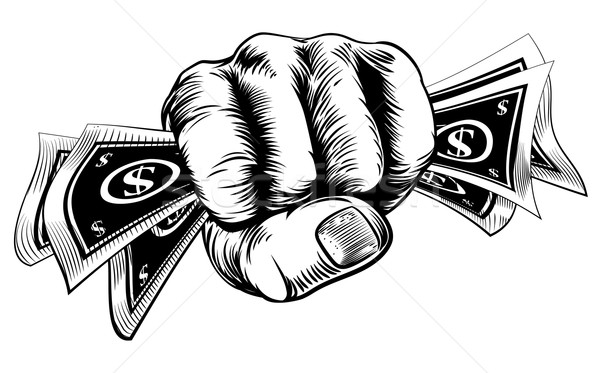 Cash Money Fist Hand Stock photo © Krisdog