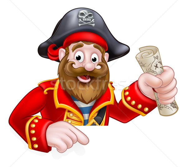 Stock photo: Cartoon Pirate