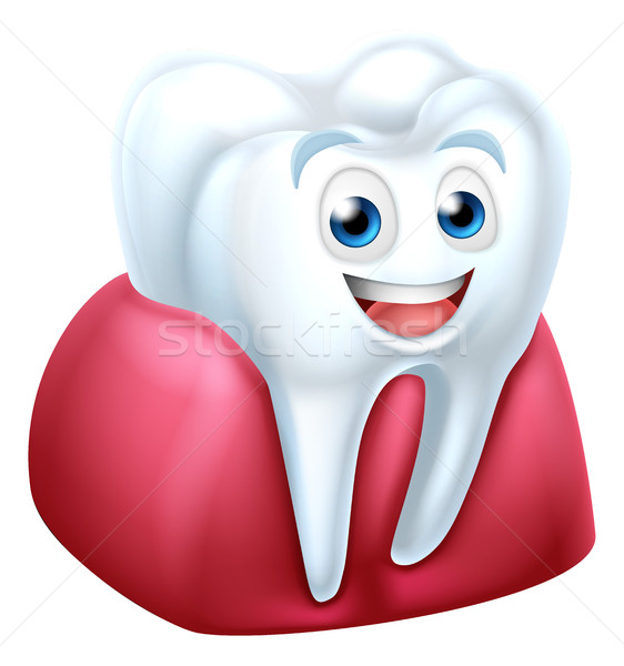 Tooth and Gum Cartoon Character Stock photo © Krisdog