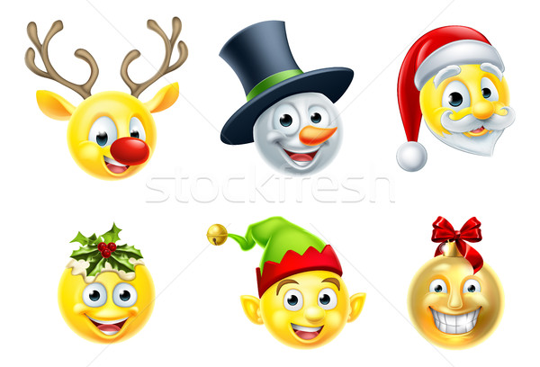 Christmas Emoji Set Stock photo © Krisdog