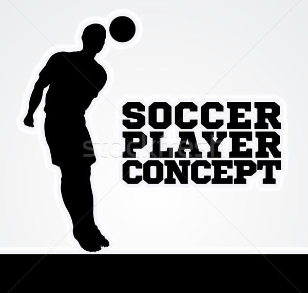 Concept Silhouette Soccer Player  Stock photo © Krisdog